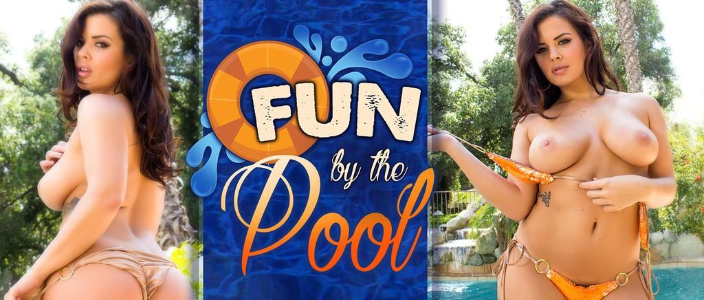 keisha grey fun by the pool