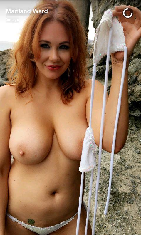 Maitland Ward Topless snapchat