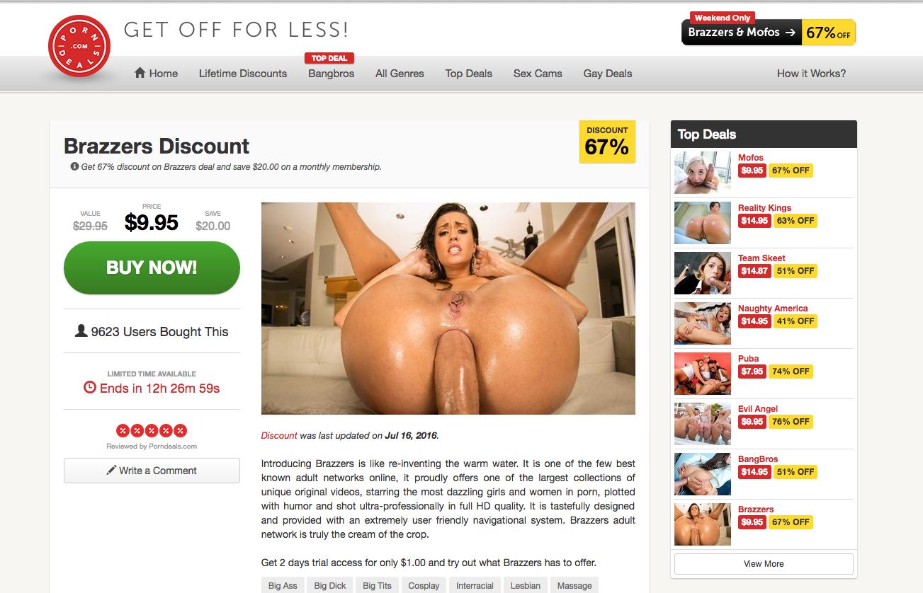 Porn discount and deals on Porndeals.com