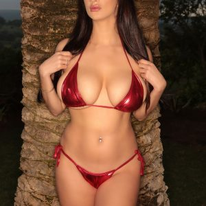 cara ruby red bikini pinupfiles