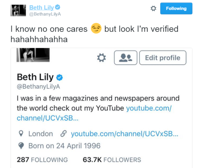 beth lily verified