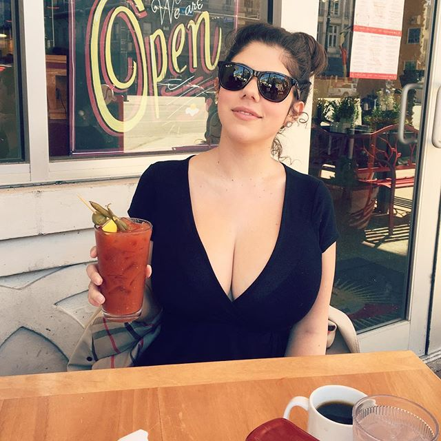 emily barry cleavage