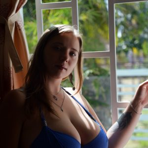 mila blue bikini