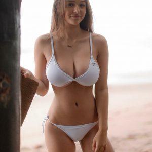 sophie mudd white bikini